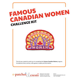 Famous, Canada, Women, Woman, Meeting, Idea, Program Kit, Challenge Kit, Program Planning, Meeting Ideas, Girl Guides, Girl Scouts, Girl Scout Activities