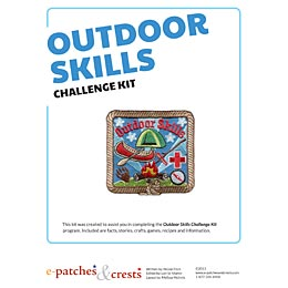 Outdoor, Skill, Outdoor Skills, Knots, Camping, Canoeing, First Aid, Animal Tracks, Tent,  Girl Guides, Girl Scouts, Meeting Plan, Challenge Kit, Program, Plan