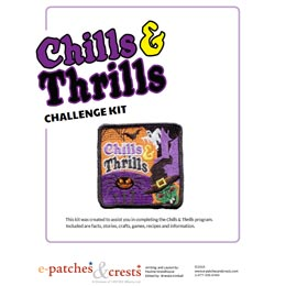 Chills, Thrills, Halloween, Pumpkin, Ghost, Witch, Skeleton, Bat, Spider, Meeting, Idea, Program Kit, Challenge Kit, Program Planning, Meeting Ideas, Girl Guides, Girl Scouts, Girl Scout Activities