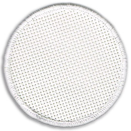 This blank circular patch is made so that you can sew your own design onto it. The patch has a white merrow border.