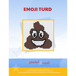 This PDF booklet has a cross stitched image of a smiling turd emoji on the cover.