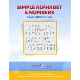 This PDF booklet has a cross stitched Simple Alphabet & Numbers on the cover.