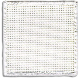 This blank square patch is made so that you can sew your own design onto it. The patch has a white merrow border.