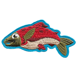 This patch depicts a salmon.