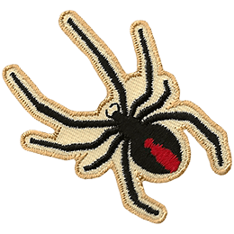 An image of a black widow spider forms this patch.