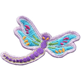 Dragonfly, Bug, Insect, Wing, Patch, Embroidered Patch, Merit Badge, Badge, Emblem, Iron On, Iron-On, Crest, Lapel Pin, Insignia, Girl Scouts, Boy Scouts, Girl Guides