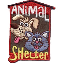 Animal Shelter, Cat, Dog, Patch, Merit Badge, Crest, Scouts, Guides