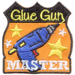 Glue, Gun, Master, Crafts, Patch, Embroidered Patch, Merit Badge, Badge, Emblem, Iron On, Iron-On, Crest, Lapel Pin, Insignia, Girl Scouts, Boy Scouts, Girl Guides