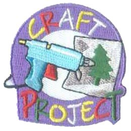Craft, Project, Glue, Gun, Craft Project, Tree, Paper, Picture, Patch, Embroidered Patch, Merit Badge, Badge, Emblem, Iron On, Iron-On, Crest, Lapel Pin, Insignia, Girl Scouts, Boy Scouts, Girl Guides