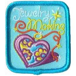 Jewelry, Jewel, Heart, Patch, Embroidered Patch, Merit Badge, Badge, Emblem, Iron On, Iron-On, Crest, Lapel Pin, Insignia, Girl Scouts, Boy Scouts, Girl Guides