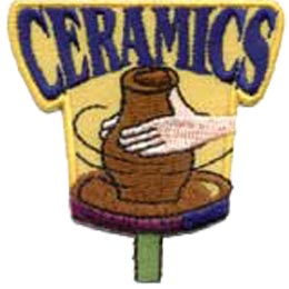 Ceramics, Pottery, Arts, Crafts, Vase, Patch, Embroidered Patch, Merit Badge, Crest, Girl Scouts, Boy Scouts, Girl Guides