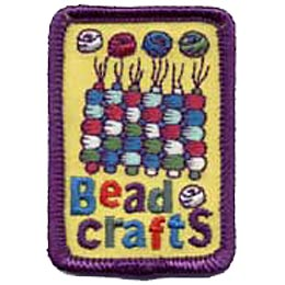 Bead, Beads, Craft, Crafts, Arts, String, Patch, Embroidered Patch, Merit Badge, Badge, Emblem, Iron On, Iron-On, Crest, Lapel Pin, Insignia,  Girl Sc