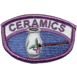 Ceramics, Pottery, Paint, Vase, Craft, Art, Patch, Embroidered Patch, Merit Badge, Iron On, Iron-On, Crest, Girl Scouts, Boy Scouts, Girl Guides