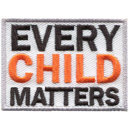This grey bordered, white background crest has the words 'Every Child Matters' stacked one on top of the other.