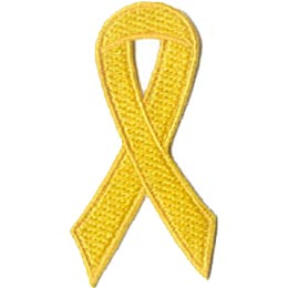 Yellow, Ribbon, Troops, Veterans, Vets, Legion, Force, Patch, Embroidered Patch, Merit Badge, Crest, Girl Scouts, Boy Scouts, Girl Guides