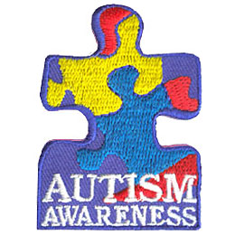 Autism, Aware, Awareness, Disability, Patch, Embroidered Patch, Merit Badge, Badge, Emblem, Iron On, Iron-On, Crest, Lapel Pin, Insignia, Girl Scouts,