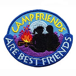 Friend, Best, Camp, Campfire, Patch, Embroidered Patch, Merit Badge, Badge, Emblem, Iron On, Iron-On, Crest, Lapel Pin, Insignia, Girl Scouts, Boy Scouts, Girl Guides