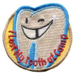 Tooth, Lost, Camp, Fairy, Teeth, Patch, Embroidered Patch, Merit Badge, Badge, Emblem, Iron On, Iron-On, Crest, Lapel Pin, Insignia, Girl Scouts, Boy Scouts, Girl Guides