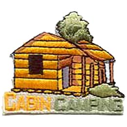 Cabin, Camping, Camp, Logs, Tree, Patch, Embroidered Patch, Merit Badge, Crest, Girl Scouts, Boy Scouts, Girl Guides