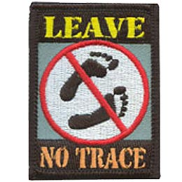 Leave No Trace, Trace, Camp, Camping, Foot, Footprint, Environment, Impact, Patch, Embroidered Patch, Merit Badge, Iron On, Iron-On, Crest, Girl Scout