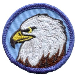 Patrol, Badge, Eagle, Bird, USA, Embroidered Patch, Merit Badge, Badge, Emblem, Iron On, Iron-On, Crest, Lapel Pin, Insignia, Girl Scouts, Boy Scouts, Girl Guides