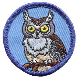 Patrol, Badge, Owl, Who, Bird, Embroidered Patch, Merit Badge, Badge, Emblem, Iron On, Iron-On, Crest, Lapel Pin, Insignia, Girl Scouts, Boy Scouts, Girl Guides