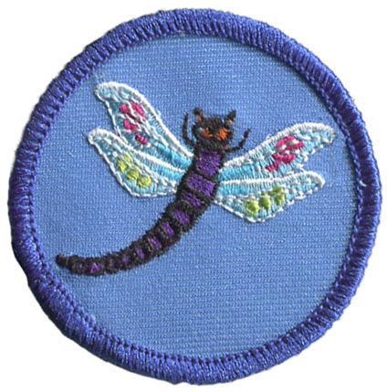 Dragonfly, Bug, Leader, Patrol, Patch, Embroidered Patch, Merit Badge, Badge, Emblem, Iron On, Iron-On, Crest, Lapel Pin, Insignia, Girl Scouts, Boy Scouts, Girl Guides