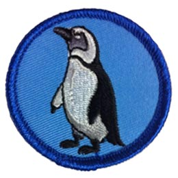 Patrol, Penguin, March, Happy, Feet, Patch, Embroidered Patch, Merit Badge, Badge, Emblem, Iron On, Iron-On, Crest, Lapel Pin, Insignia, Girl Scouts, Boy Scouts, Girl Guides