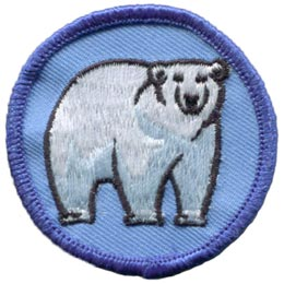 Polar, Bear, Arctic, North, Great, White, North, Patch, Embroidered Patch, Merit Badge, Badge, Emblem, Iron On, Iron-On, Crest, Lapel Pin, Insignia, Girl Scouts, Boy Scouts, Girl Guides