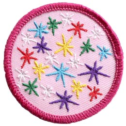 Sparkle, Rainbow, Colours, Shine, Star, Circle, Patch, Embroidered Patch, Merit Badge, Badge, Emblem, Iron On, Iron-On, Crest, Lapel Pin, Insignia, Girl Scouts, Boy Scouts, Girl Guides