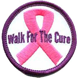 Walk, Ribbon, Disease, Cancer, Diabetes, Patch, Embroidered Patch, Merit Badge, Crest, Girl Scouts, Boy Scouts, Girl Guides