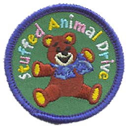Stuffed Animal, Animal, Hug, Teddy Bear, Toy, Patch, Embroidered Patch, Merit Badge, Crest, Girl Scouts, Boy Scouts, Girl Guides