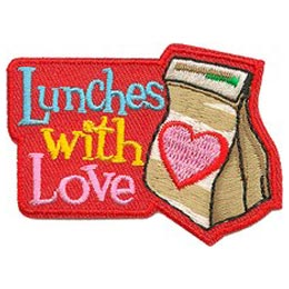 Lunch, Love, Homeless, Shelter, Hope, Meal, Patch, Embroidered Patch, Merit Badge, Badge, Emblem, Iron On, Iron-On, Crest, Lapel Pin, Insignia, Girl Scouts, Boy Scouts, Girl Guides