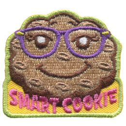 A smiling cookie with glasses sits on top of the words 'Smart Cookie.'