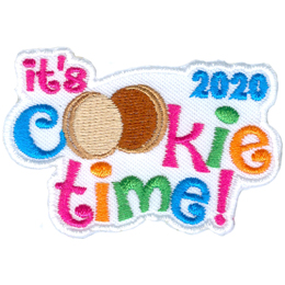 The words It\'s Cookie Time 2020 are displayed. The double Os in Cookie are vanilla and chocolate cookies.