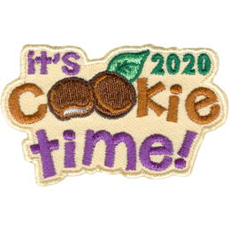 The words It\'s Cookie Time 2020 are displayed. The double Os in Cookie are two chocolate covered mint cookies.