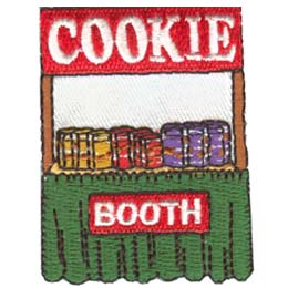 Cookie, Booth, Sale, Patch, Embroidered Patch, Merit Badge, Badge, Emblem, Iron On, Iron-On, Crest, Lapel Pin, Insignia, Girl Scouts, Boy Scouts, Girl Guides