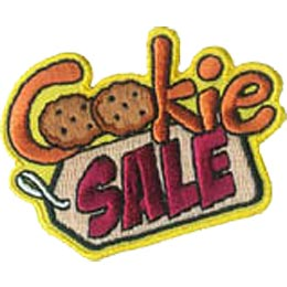 Cookie, Chocolate, Chip, Tag, Sale, Patch, Embroidered Patch, Merit Badge, Iron On, Iron-On, Crest, Girl Scouts, Boy Scouts, Girl Guides