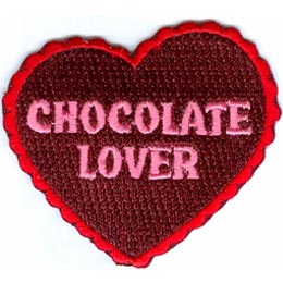 Chocolate, Lover, Love, Candy, Heart, Challenge, Chocolate Challenge, Patch, Embroidered Patch, Merit Badge, Crest, Girl Scouts, Boy Scouts, Girl Guid