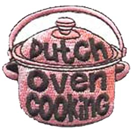 Dutch Oven Cooking, Cook, Bake, Food, Camping, Patch, Embroidered Patch, Merit Badge, Crest, Girl Scouts, Boy Scouts, Girl Guides