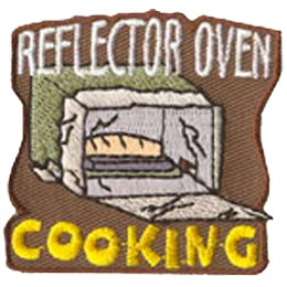 Oven, Cook, Cooking, Camp, Baking, Bake, Patch, Embroidered Patch, Merit Badge, Crest, Girl Scouts, Boy Scouts, Girl Guides