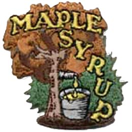 Maple Syrup, Tree, Canada, Patch, Embroidered Patch, Merit Badge, Crest, Girl Scouts, Boy Scouts, Girl Guides