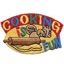 Cooking Is Fun, Cook, Bake, Baking, Cooking, Patch, Embroidered Patch, Merit Badge, Crest, Girl Scouts, Girl Guides, Boy Scouts