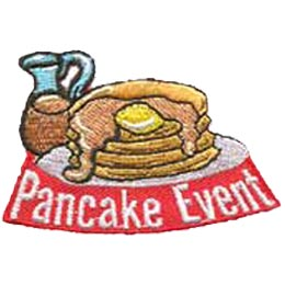 Pancake, Flap Jack, Flapjack, Breakfast, Baking, Brunch, Sunday, Patch, Embroidered Patch, Merit Badge, Iron On, Iron-On, Crest, Girl Scouts, Boy Scou