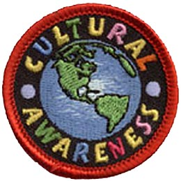 Cultural, Awareness, Culture, Heritage, Ethnic, Nationality, Patch, Embroidered Patch, Merit Badge, Iron On, Iron-On, Crest, Girl Scouts, Boy Scouts,