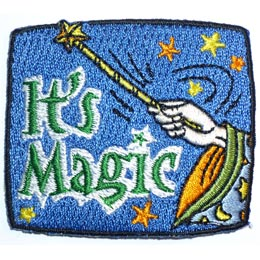 Magic, Wand, Magic Wand, Star, Wizard, Harry Potter, Magician, Patch, Embroidered Patch, Merit Badge, Crest, Girl Scouts, Boy Scouts, Girl Guides