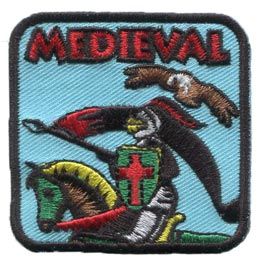 Medieval, Knight, Princess, Queen, King Arthur, Damsel, Queen, Patch, Embroidered Patch, Merit Badge, Crest, Girl Scouts, Boy Scouts, Girl Guides
