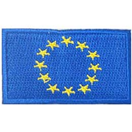 European Union, Europe, Union, Flag, Patch, Embroidered Patch, Merit Badge, Iron On, Iron-On, Crest, Girl Scouts