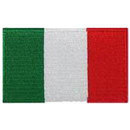 Italy, Rome, Pope, Flag, Patch, Embroidered Patch, Merit Badge, Iron On, Iron-On, Crest, Girl Scouts