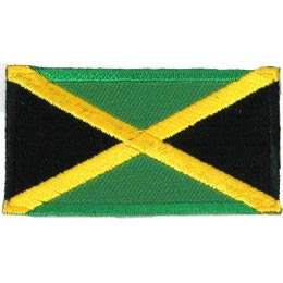 Jamaica, Kingston, Flag, Patch, Embroidered Patch, Merit Badge, Iron On, Iron-On, Crest, Girl Scouts